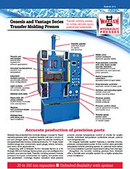 New literature featuring the Genesis and Vantage Series Transfer Molding Presses is available from Wabash MPI