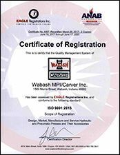 ISO 9001:2008 Certification.