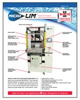 Literature on MICROLIM Hybrid Servo-Pneumatic Liquid Injection Molding Machine.
